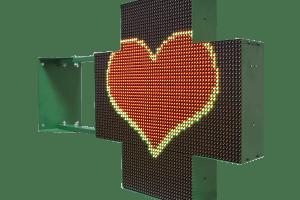 Аптечный крест красно-зеленый двухсторонний